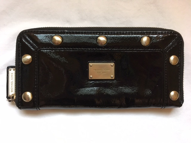 4a293c575fa8 MICHAEL KORS Black Patent Leather Wallet [63] - $24.95 : Zen Cart ...